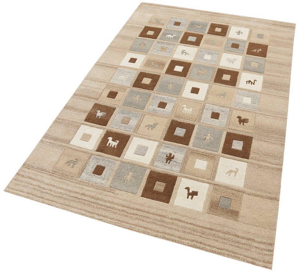 Teppich, Theko exklusiv, »Mario«, 3,5 kg/m², handgetuftet, Schurwolle in natur