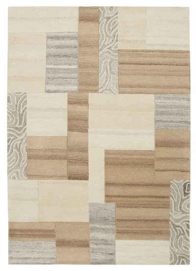 Wollteppich »Lola«, Theko Exklusiv, rechteckig, Höhe 12 mm, reine Wolle, Wohnzimmer