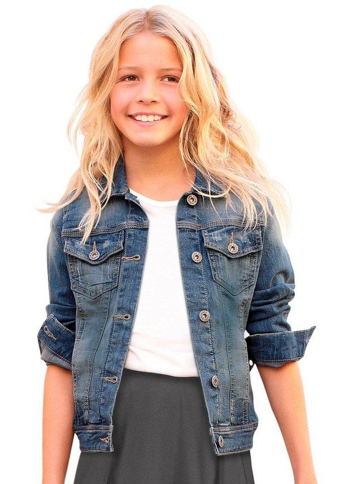 Arizona Jeansjacke mit Eingrifftaschen in blue-denim