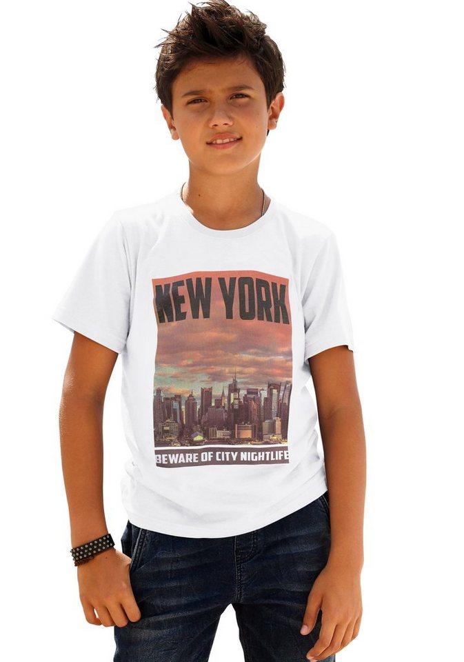 """Arizona T-Shirt """"New York"""" in weiß"""
