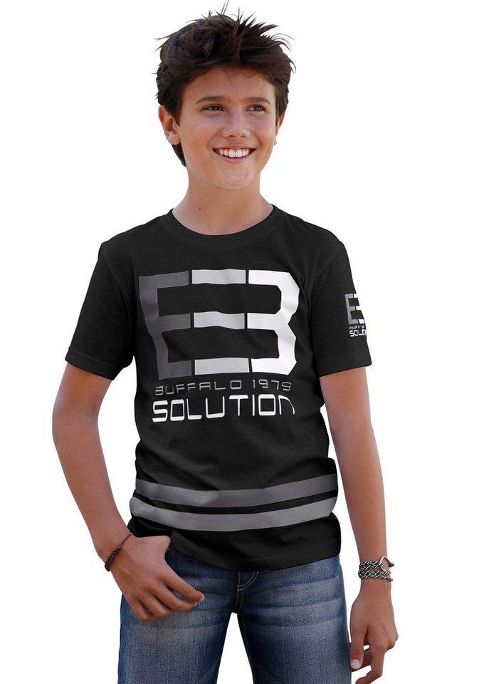 Buffalo T-Shirt in schwarz