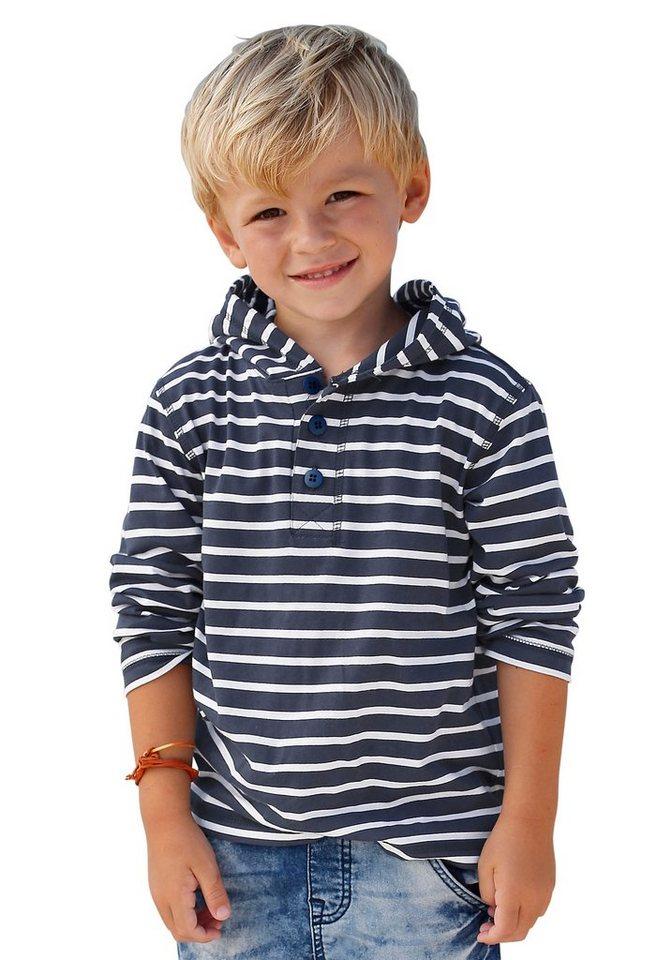KIDSWORLD Kapuzenshirt in blau-weiß