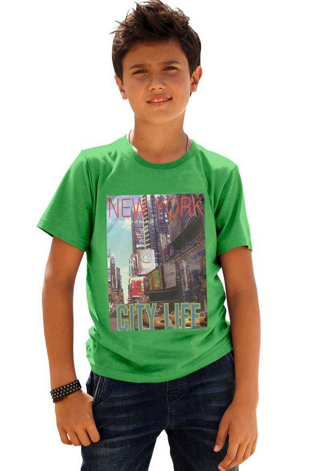 "Arizona T-Shirt ""New York"" in grün-meliert"