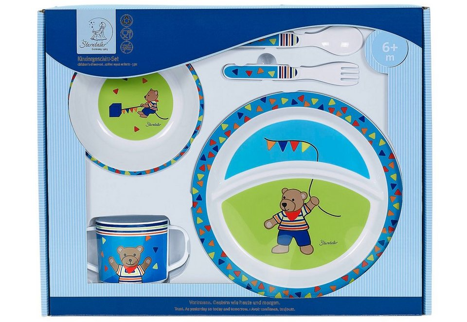 Sterntaler Kinder-Geschirr-Set, »Ben« (5tlg.)