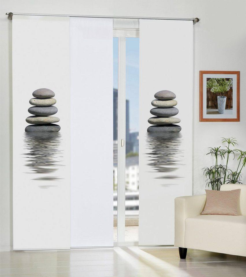 schiebegardine home wohnideen bazzy mit klettband 1. Black Bedroom Furniture Sets. Home Design Ideas