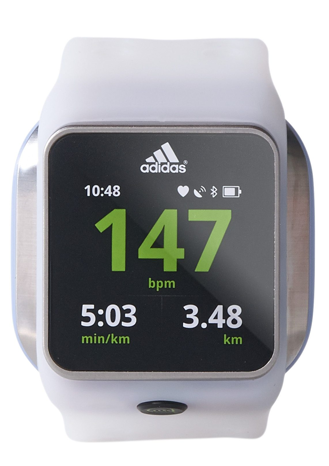 Adidas Performance Pulsuhr Smartwatch, weiß, »miCoach Smart Run«