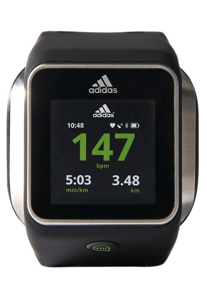 Adidas Performance Pulsuhr Smartwatch, schwarz, »miCoach Smart Run« in schwarz