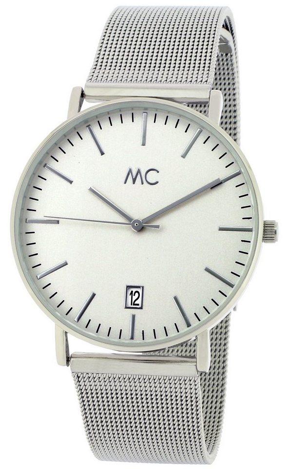 MC Armbanduhr, mit Datum, »27773« in silberfarben