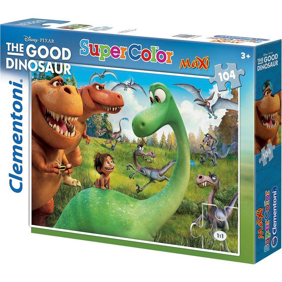 Clementoni Maxi Puzzle - 104 Teile - Disney Arlo & Spot