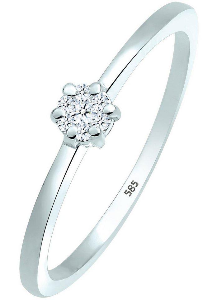 Diamore Ring mit funkelnden Brillanten, »Levi, 0604760414« in Weißgold 585