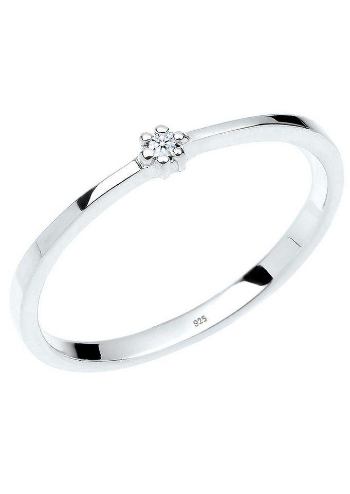 Diamore Solitär Ring mit funkelndem Brillant, »Nora, 0604541213« in Silber 925