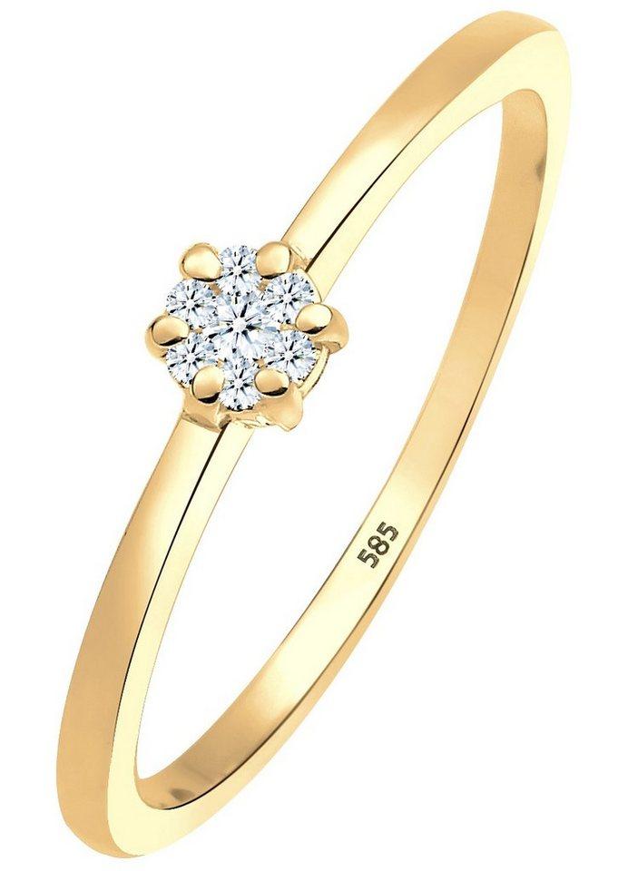 Diamore Ring mit funkelnden Brillanten, »Mari, 0612341813« in Gelbgold 585