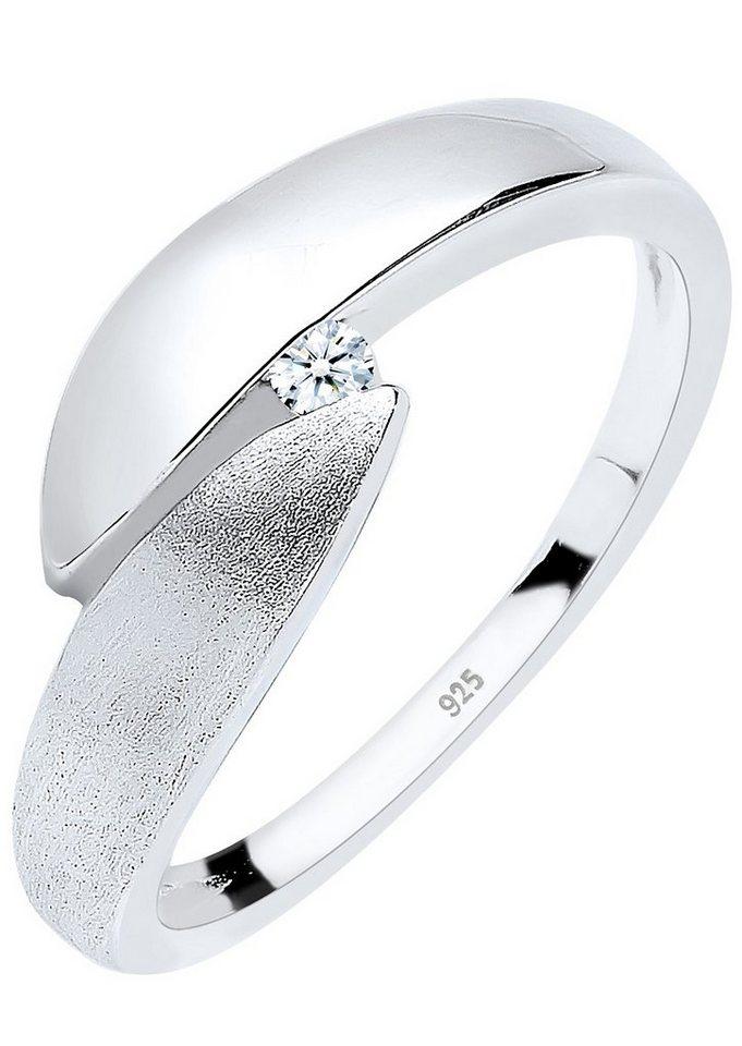 Diamore Ring mit funkelndem Brillant, »Elsa, 0609592413« in Silber 925