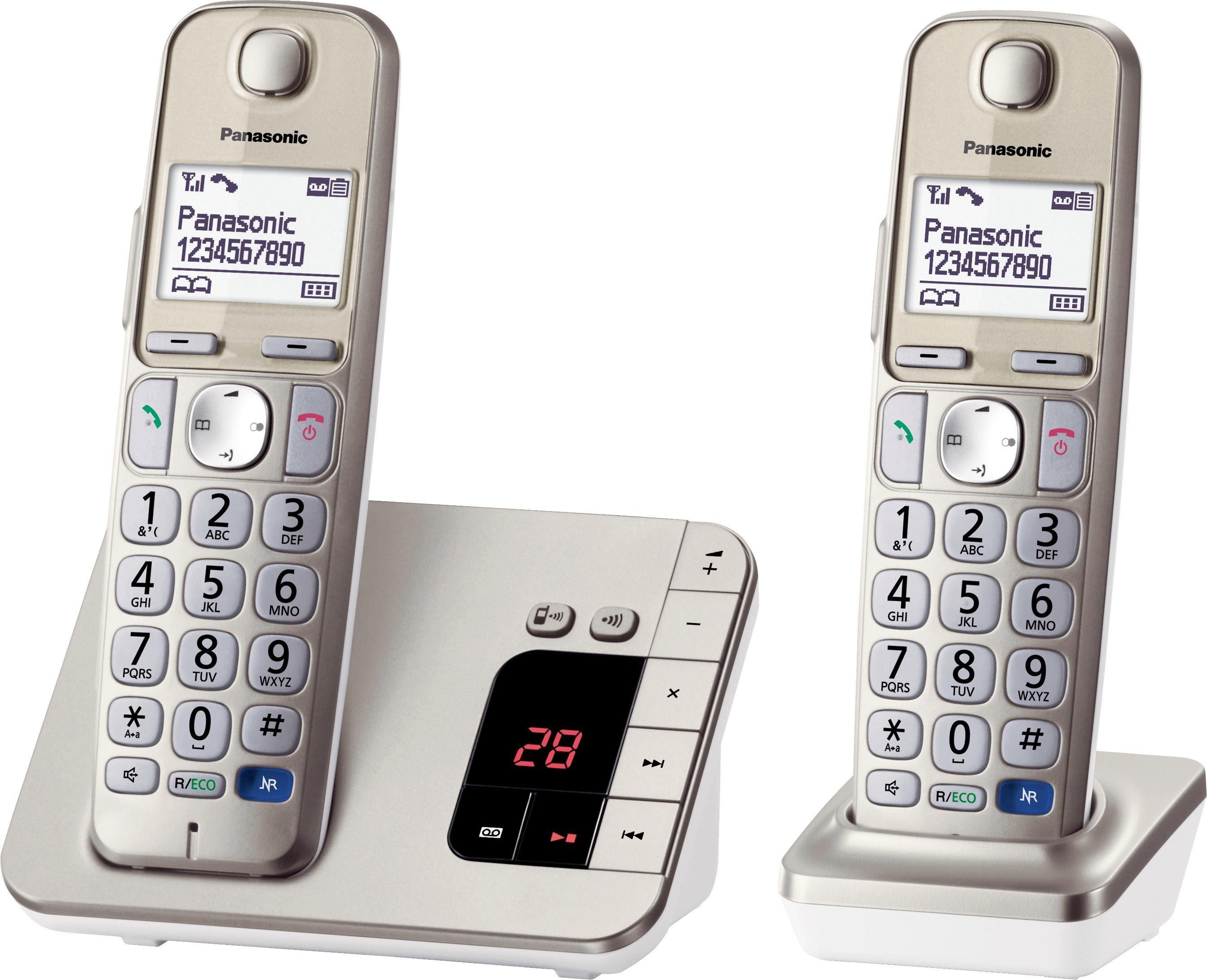 Panasonic »KX-TGE222GN DUO« Schnurloses DECT-Telefon (Mobilteile: 2)