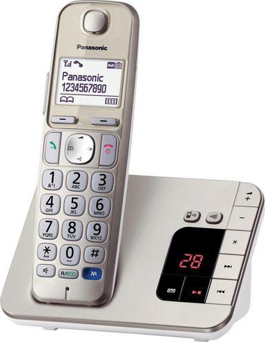 Panasonic »KX-TGE220GN« Schnurloses DECT-Telefon (Mobilteile: 1, Freisprechen, Weckfunktion, Anrufbeantworter)
