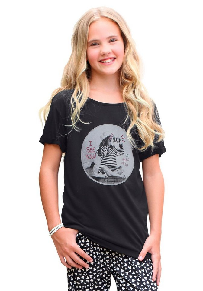 KIDSWORLD T-Shirt in Oversize-Form in schwarz