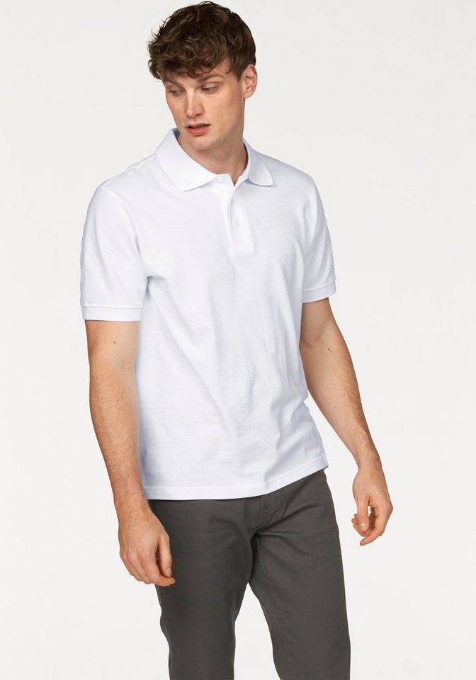 Man's World Poloshirt Piqué in weiß