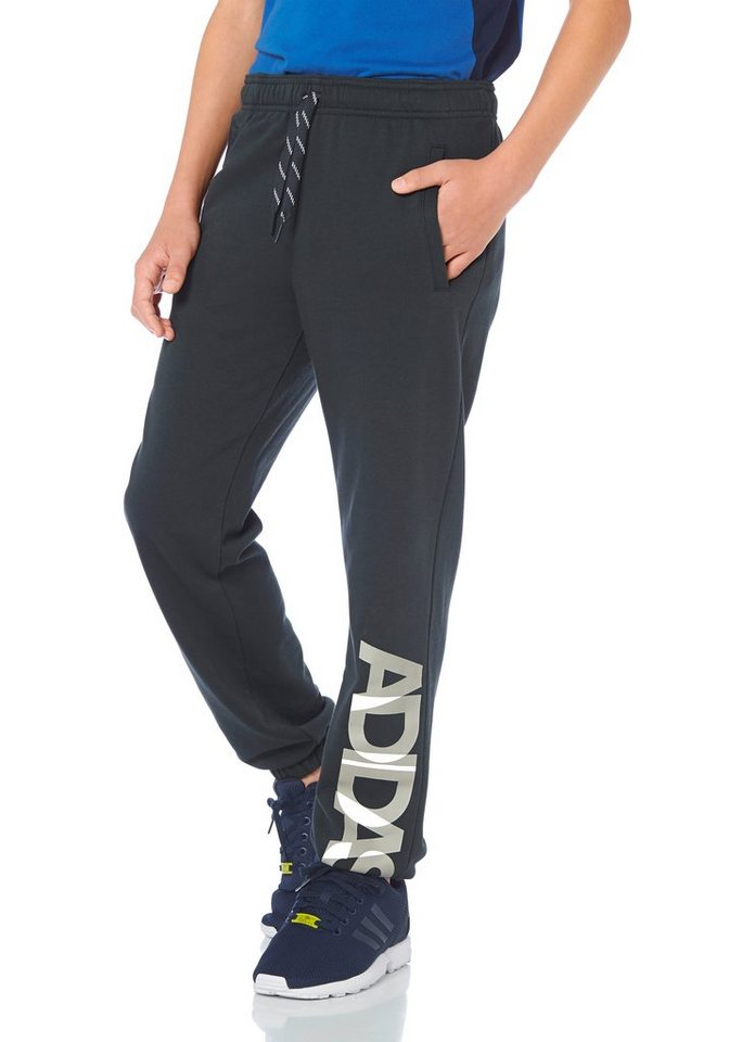 adidas Performance LOCKER ROOM BRAND SWEAT PANT Jogginghose in Dunkelgrau