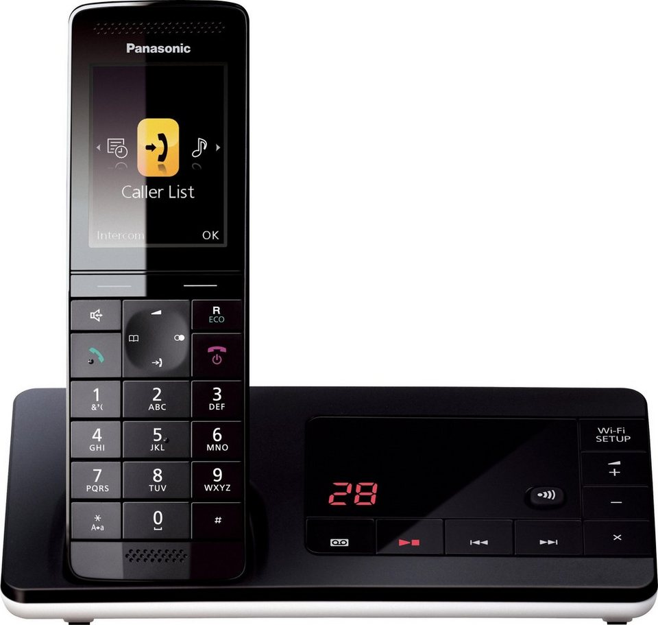 panasonic kx prw130 schnurloses dect telefon wlan wi. Black Bedroom Furniture Sets. Home Design Ideas
