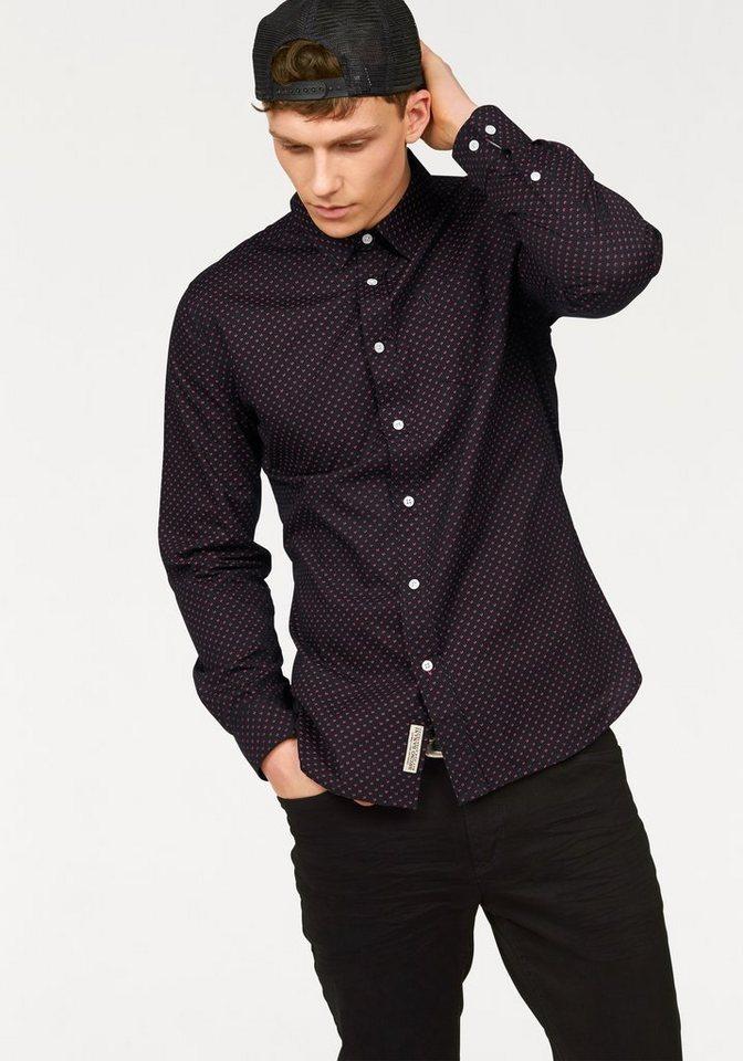 Bruno Banani Hemd in schwarz-bedruckt
