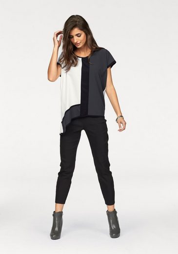 Laura Scott Oversize-Shirt, im Materialmix