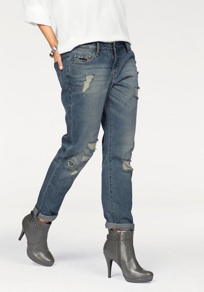 laura scott boyfriend jeans mit verzierter coinpocket. Black Bedroom Furniture Sets. Home Design Ideas