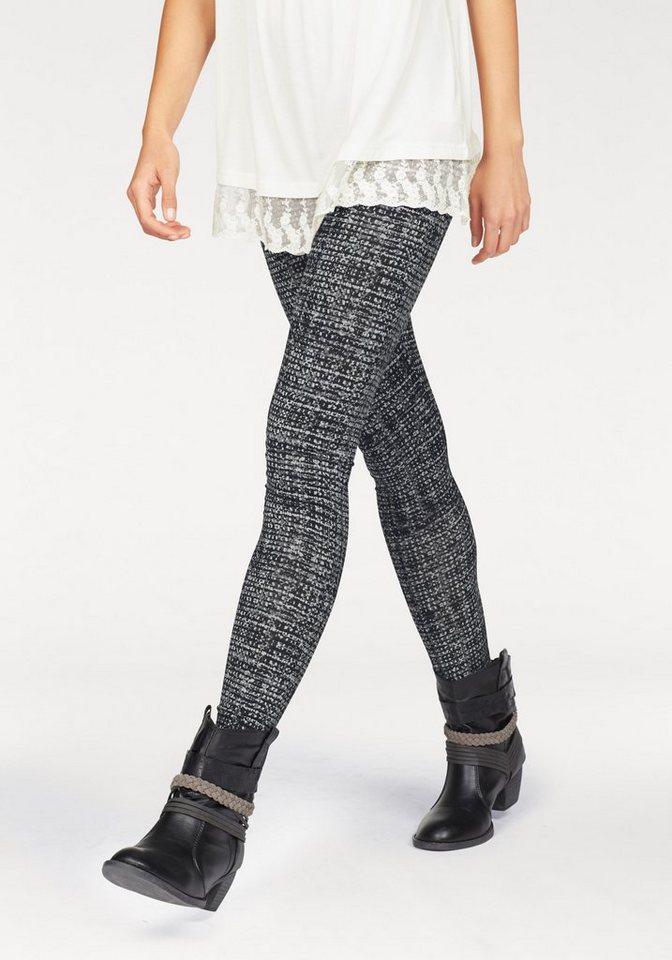 Boysen's Leggings mit Alloverdruck in grau-schwarz-bedruckt