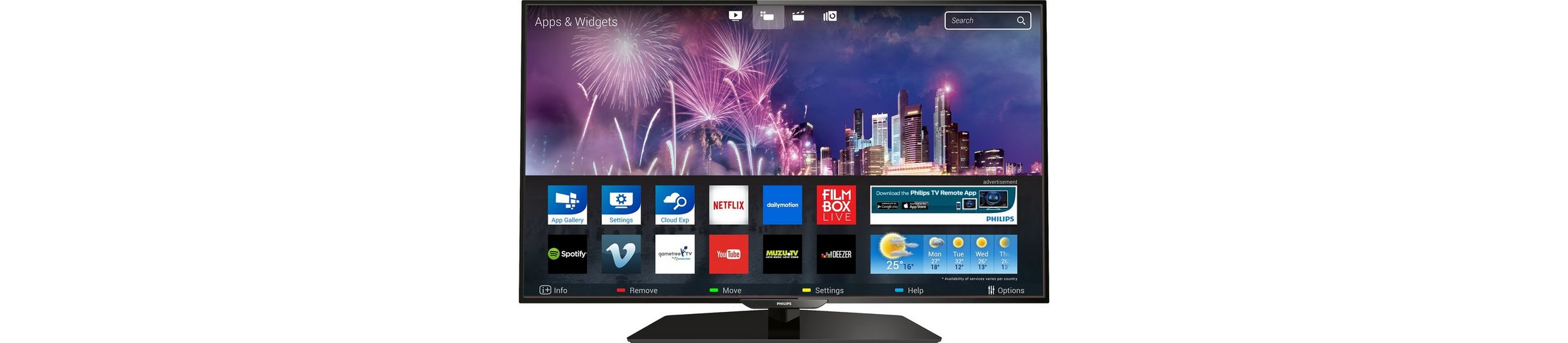 Philips 40PFK5300, LED Fernseher, 102 cm (40 Zoll), 1080p (Full HD), Smart-TV
