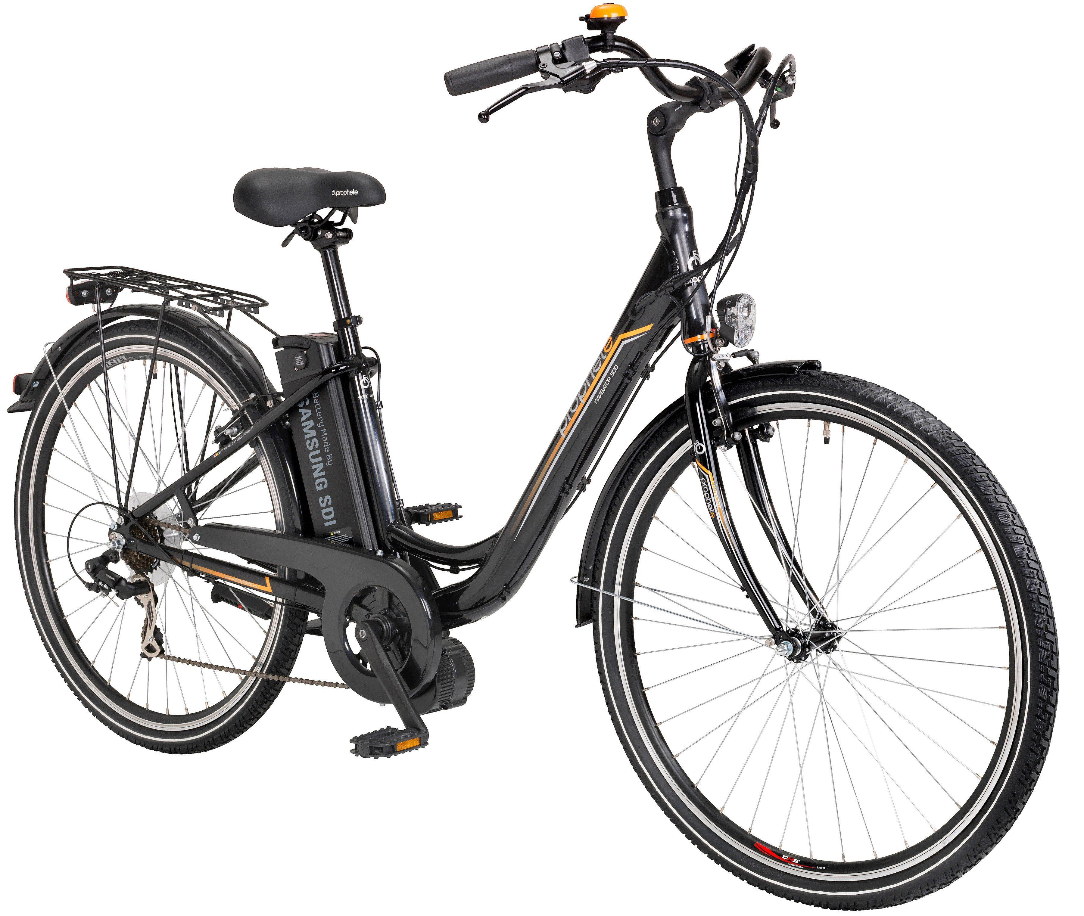 PROPHETE E-Bike City Damen »Navigator 500«, 28 Zoll, 7 Gang, Mittelmotor, 360 Wh
