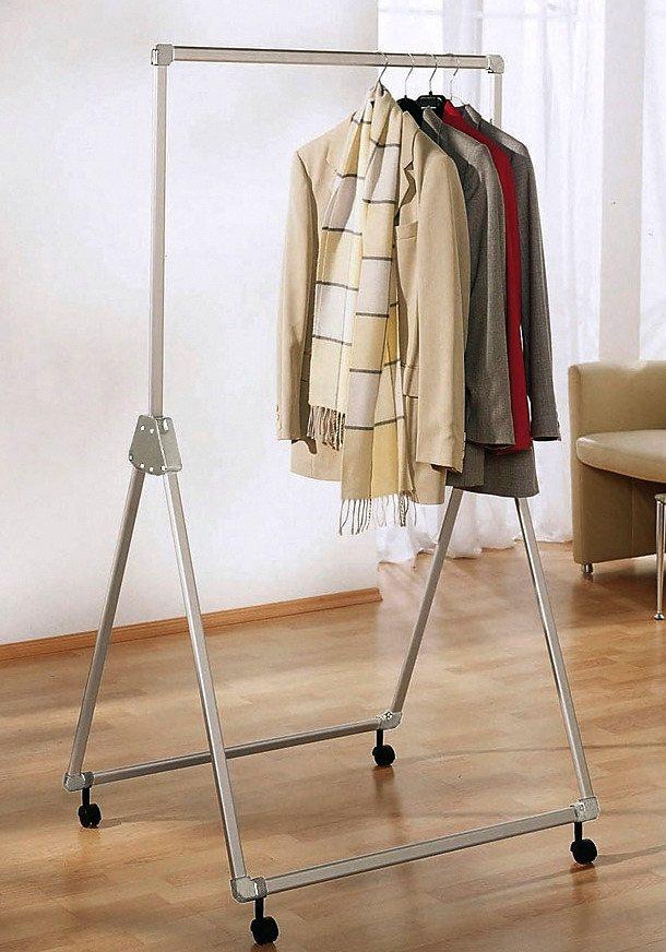 Kleiderständer »Fahrbar« in silberfarben