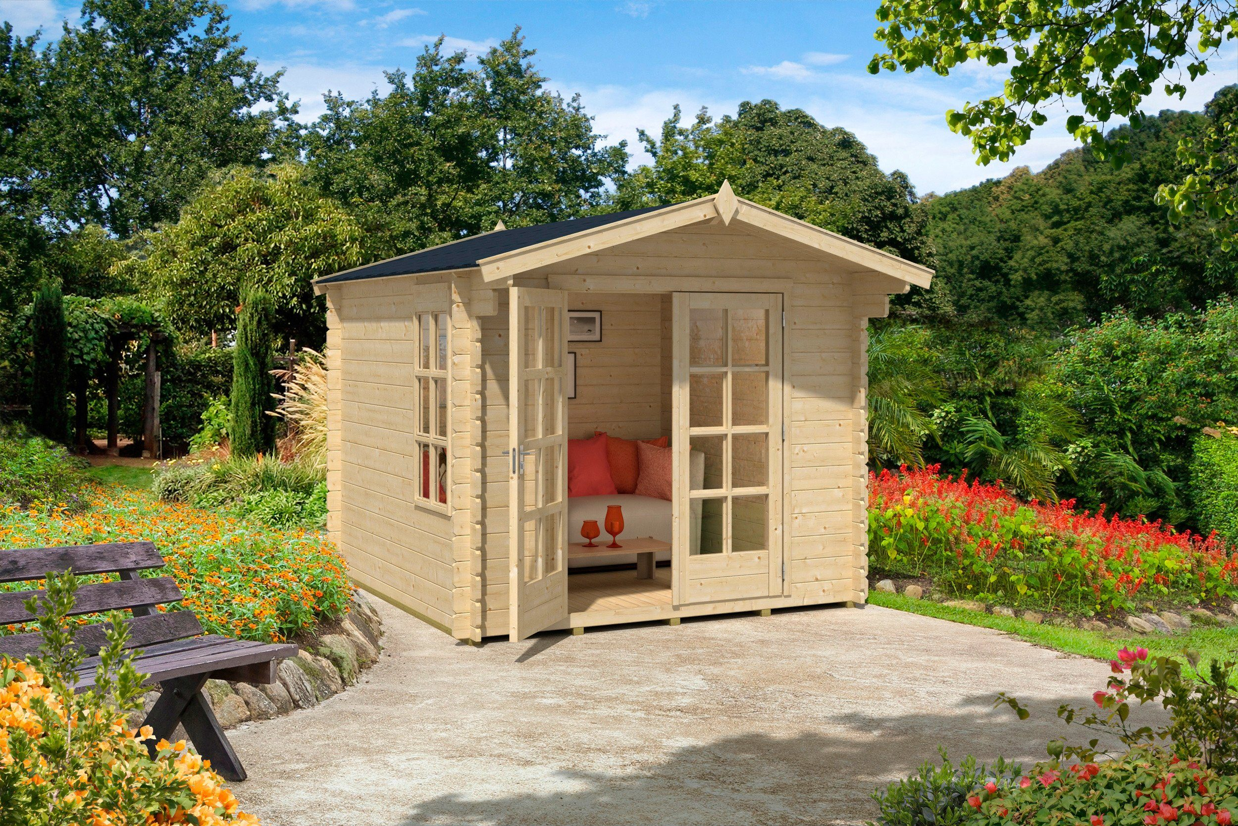 Gartenhaus »Kalmar 0«, Gesamtmaß (BxT): 265x265 cm