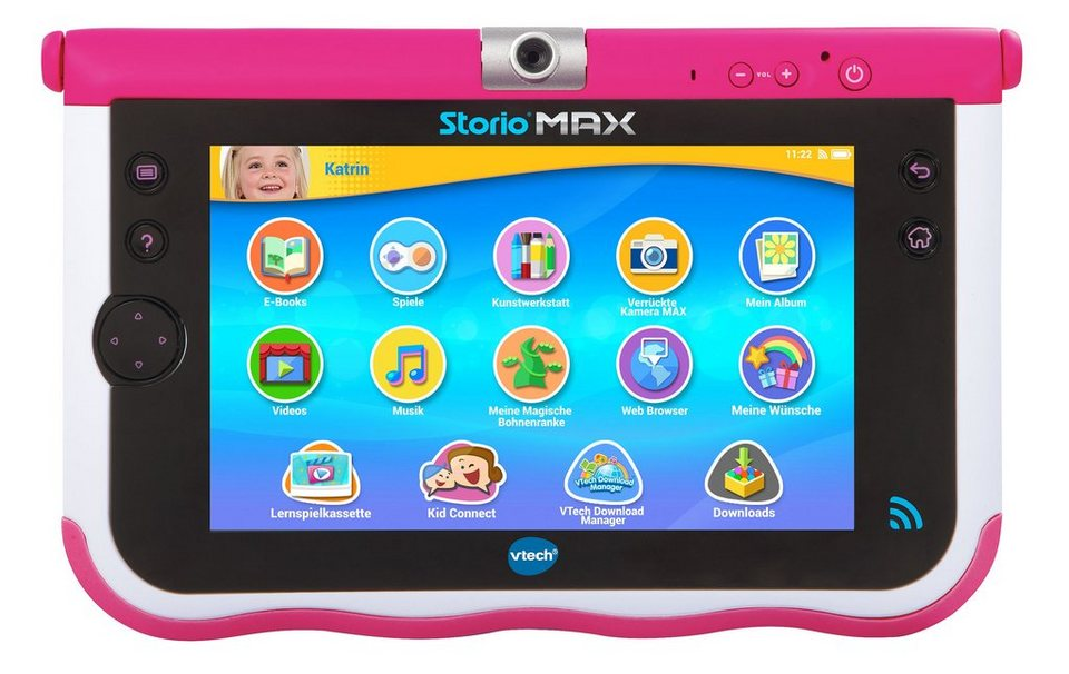 VTech Lerntablet, »Storio® MAX 7-Zoll« in pink