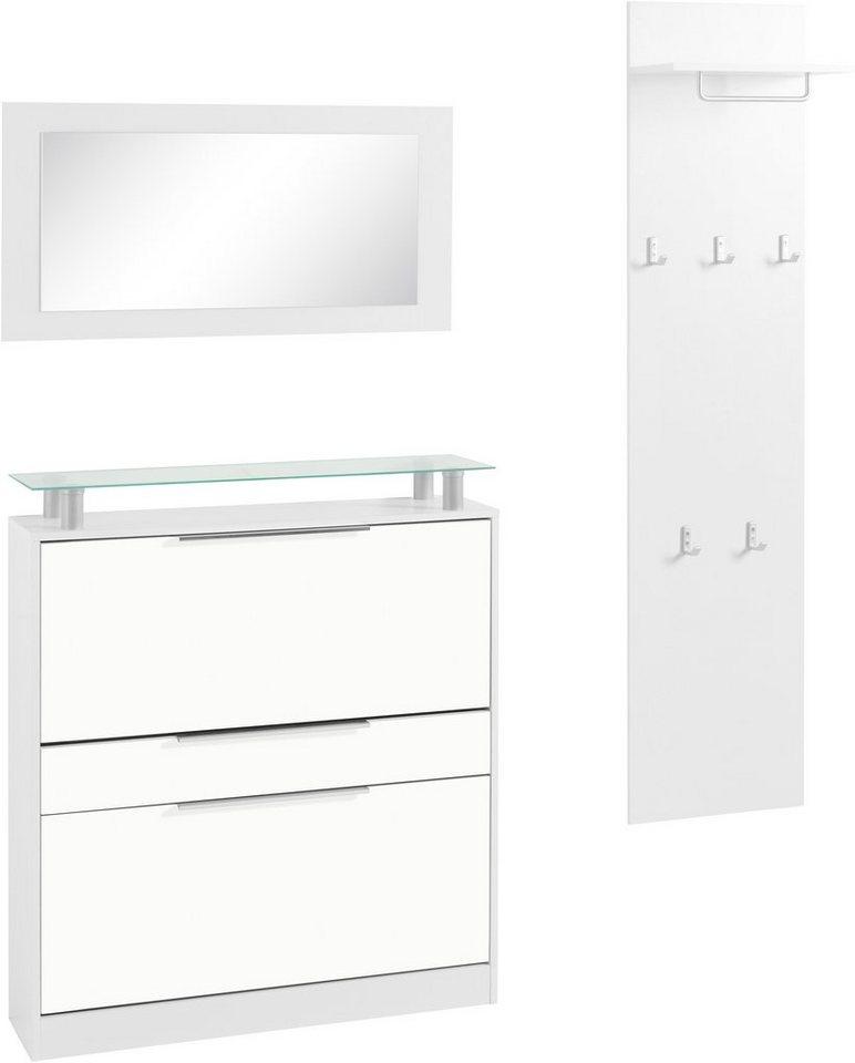 Garderoben-Set »Rena 1« (3-tlg.) in weiß-weiß matt
