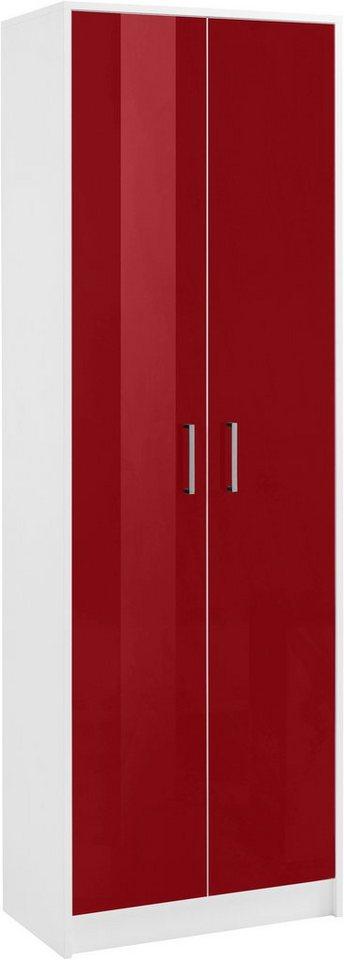 Garderobenschrank »Finn« in weiß-rot