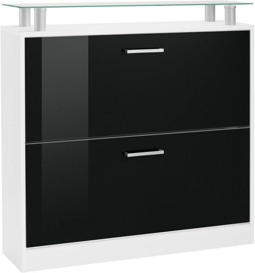 Borchardt Möbel Schuhschrank »Finn«, Breite 89 cm, mit Glasablage ...