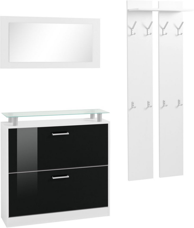 garderoben set finn 3 tlg mit glasablage otto. Black Bedroom Furniture Sets. Home Design Ideas