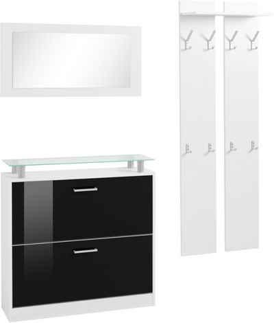 borchardt Möbel Garderoben-Set »Finn«, (Set, 3-St), mit Glasablage