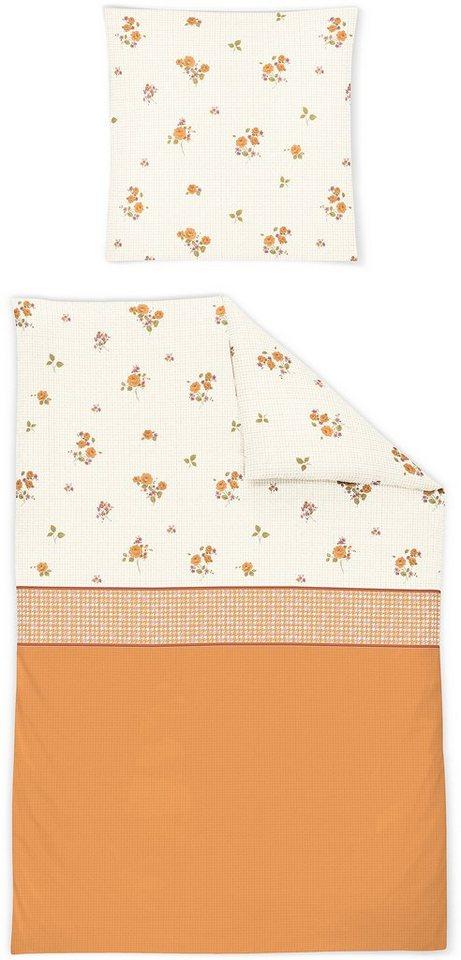 Bettwäsche, Irisette, »Davos 8333«, mit kleinen Blümchen in orange