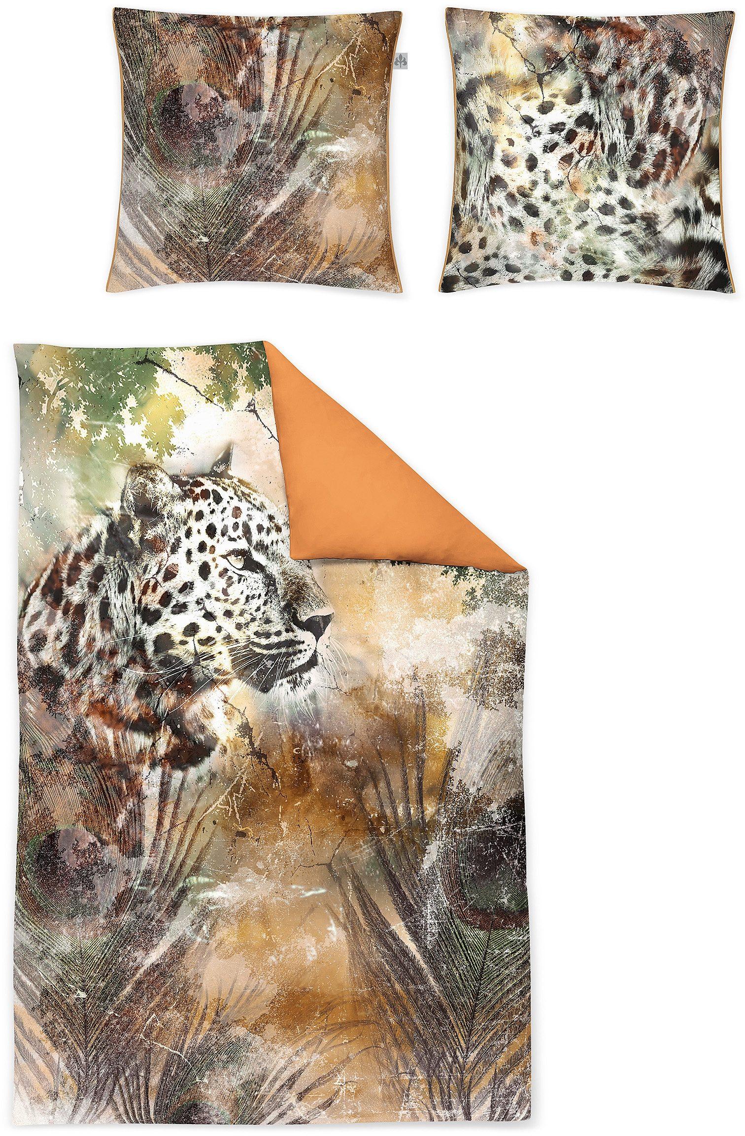 Wendebettwäsche, Irisette, »Juwel-K 8846«, mit Leopard