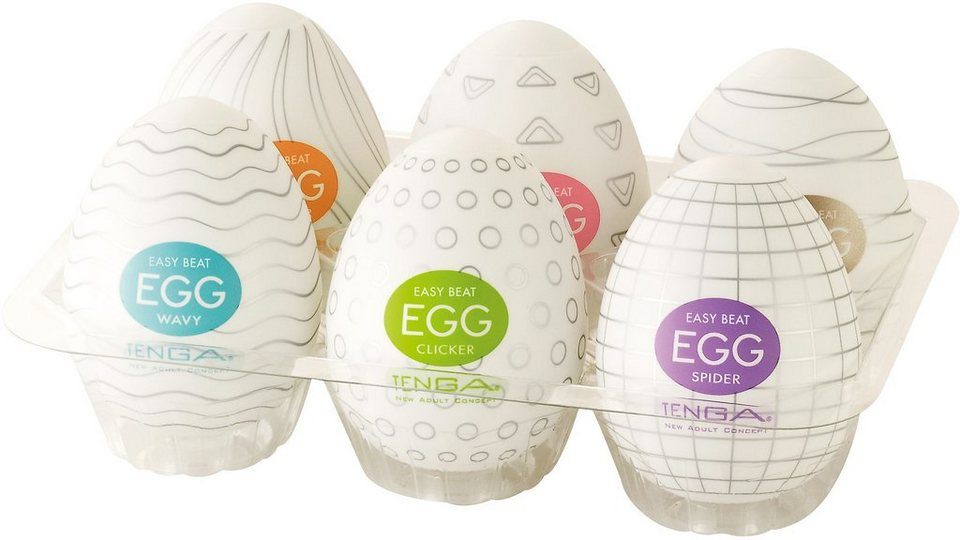 TENGA Masturbator »Egg Variety«, 6-tlg. in transparent