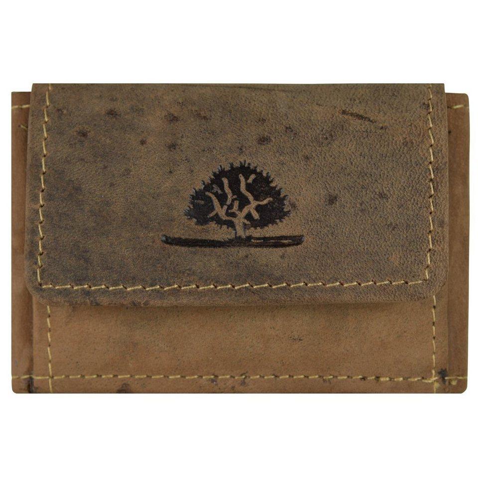 Greenburry Vintage Münzbörse Leder 8,5 cm in brown