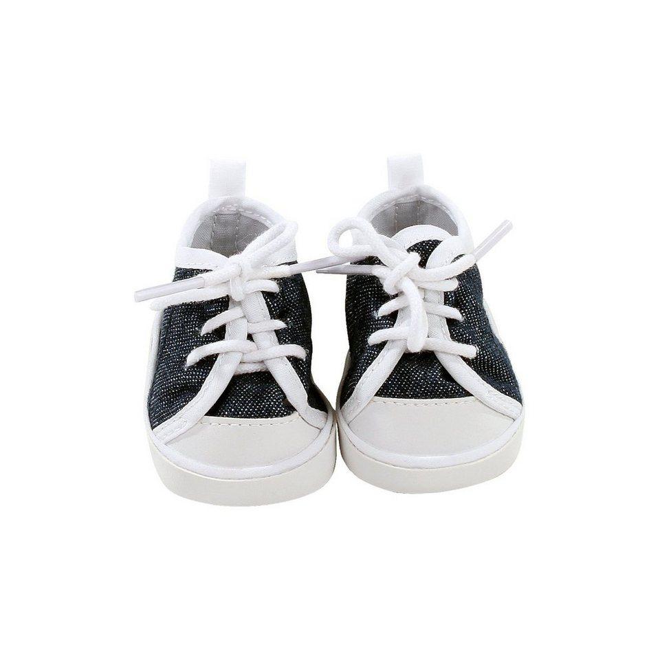 Götz Puppenkleidung Schuhe, sneaker denim 30- 33 cm