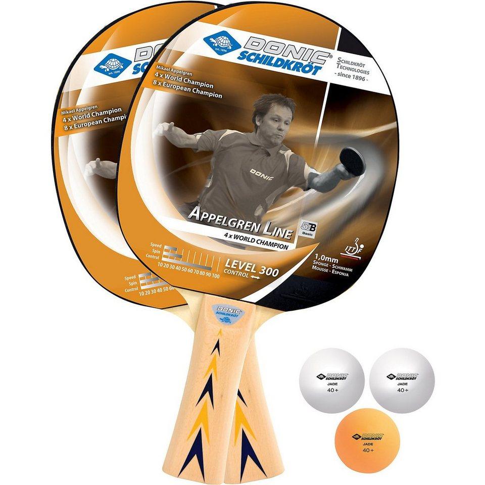 Donic-Schildkröt Level 300 Tischtennisset in braun