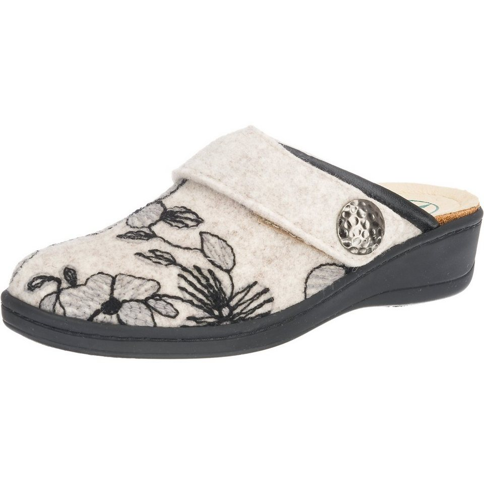 Franken-Schuhe Hausschuhe in creme