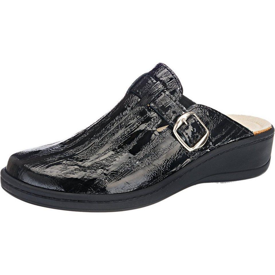 Franken-Schuhe Clogs in schwarz