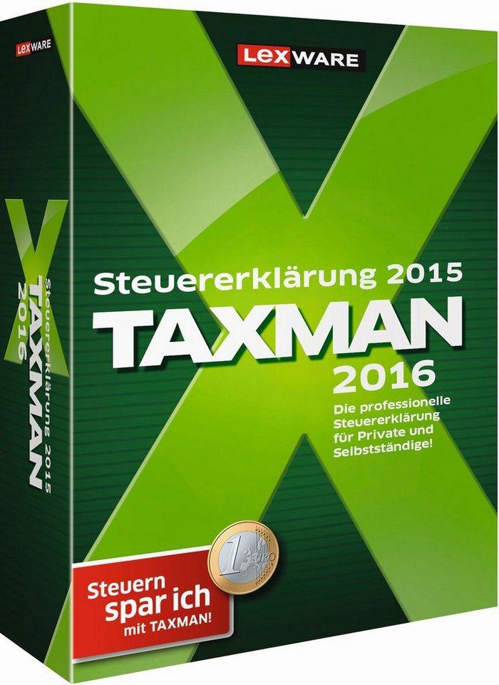 Lexware Finanzen/Steuer »TAXMAN 2016 RENTNER + PENSIONAERE«