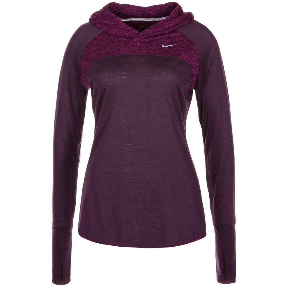 NIKE Wool Laufkapuzenpullover Damen in lila / violett