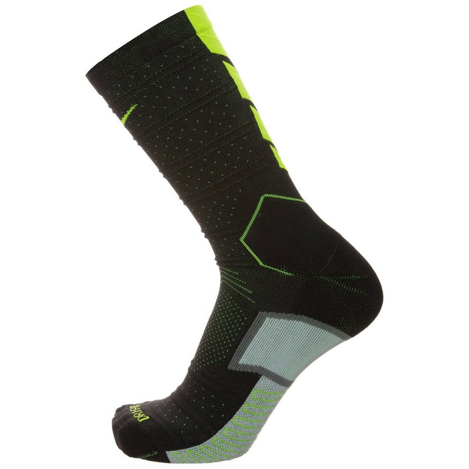 NIKE Match Fit Elite Mercurial Crew Socken in schwarz / lime