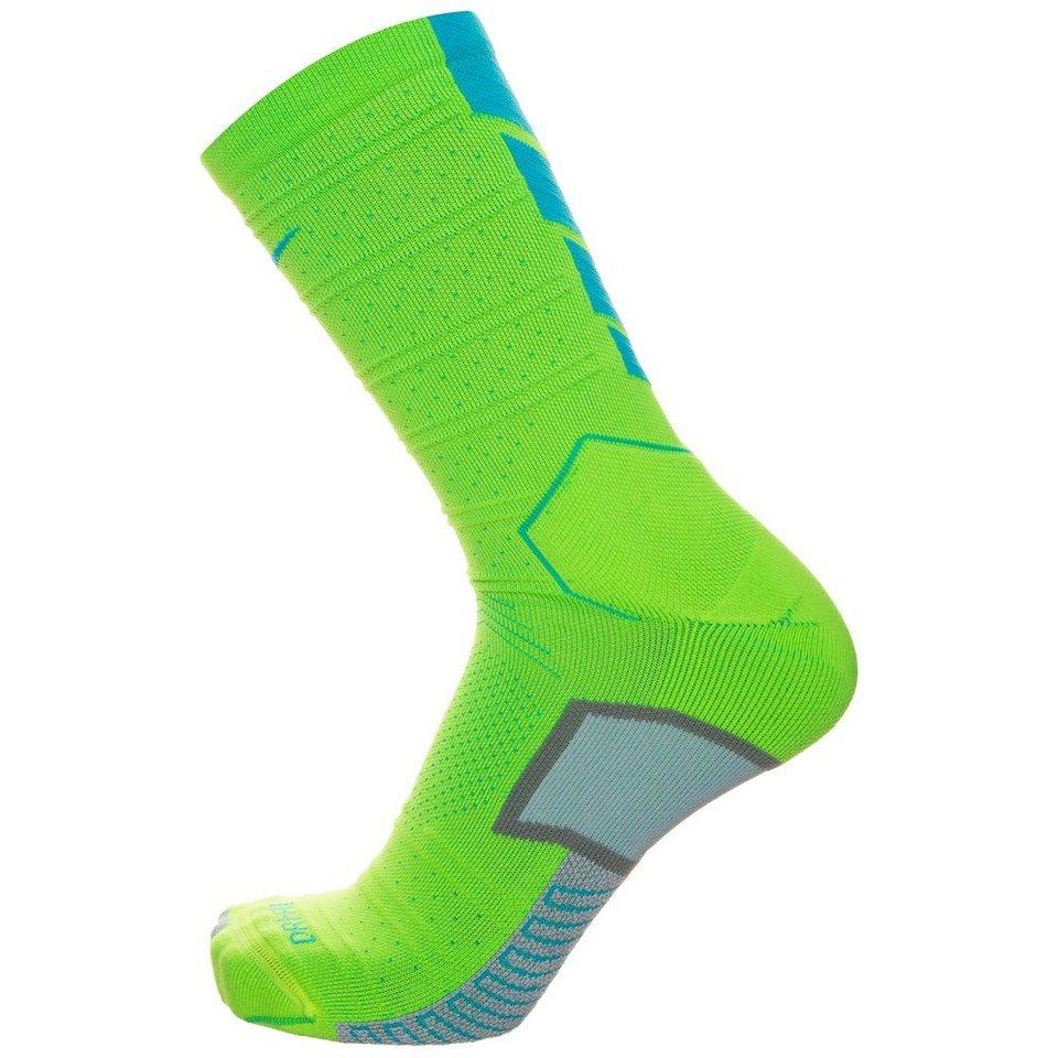 NIKE Match Fit Elite Mercurial Crew Socken in lime / hellblau