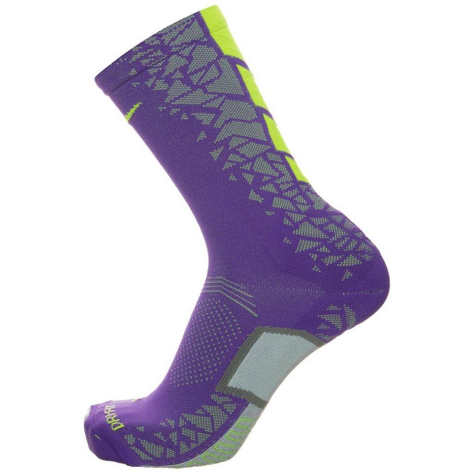 NIKE Match Fit Elite Hypervenom Crew Socken in lila / lime